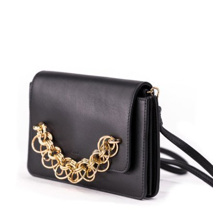VieTrendy-Chloe-Shoulder-Bag-Black-Side