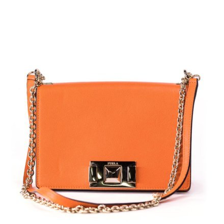 Orange Furla Mimi bag