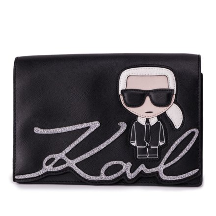 VieTrendy-Karl-Lagerfeld-Ikonic-Shoulder Bag-Black-Front