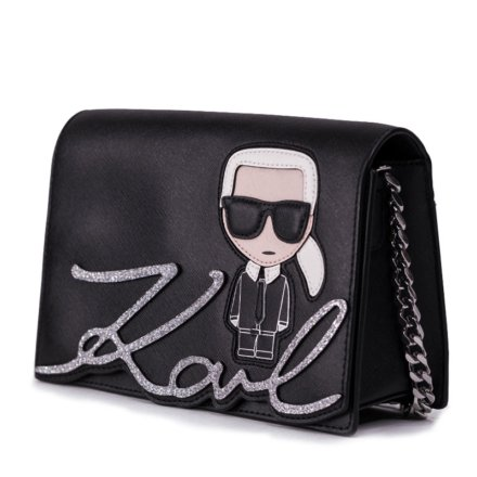 VieTrendy-Karl-Lagerfeld-Ikonic-ShoulderBag-Black-Side