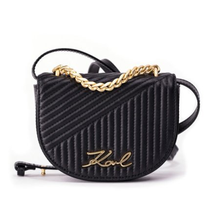ieTrendy-Karl-Lagerfeld-Signature-Quilted-Bumbag-Black-Front
