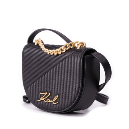 VieTrendy-Karl-Lagerfeld-Signature-Quilted-Bumbag-Black-Side