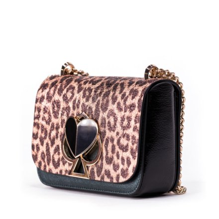 VieTrendy-Kate Spade-Nicola-Metallic-Leopard-Twistlock-Small-Convertible-Chain-Side