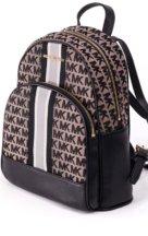 VieTrendy-Michael-Kors-Womens-Medium-Leather-Canvas-Travel-Backpack-School-Bag-Beige-Black-Side