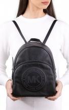 VieTrendy-Michael-Kors-Womens-Medium-Travel-School-Sport-Backpack-Bag-Black-Silver-Leather-with-Model