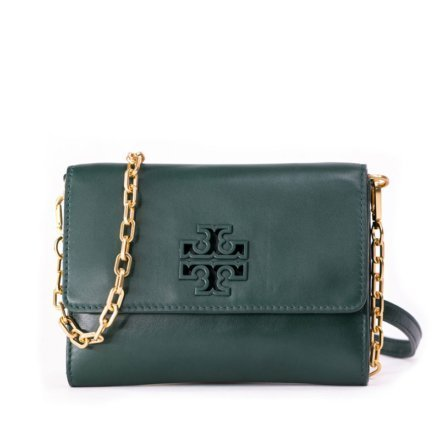 VieTrendy-Tory-Burch-Lily-Chain-Wallet-Green-Front-