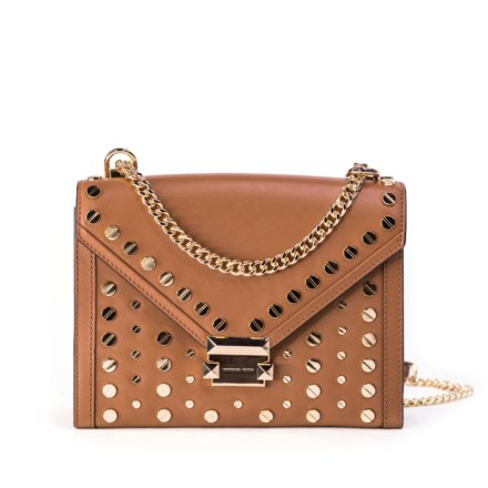 VieTrendy-Whitney-Studded-Leather-Shoulder-Bag-Beige