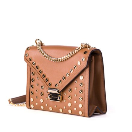 VieTrendy-Whitney-Studded-Leather-Shoulder-Bag-Beige-Side