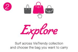 Explore and rent any bag from the collection