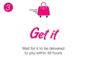 Wait for the bag you rented to be delivered to your home