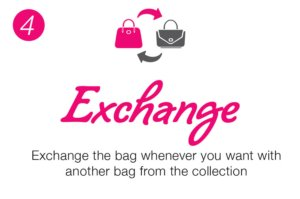 Exchange the bag with another one whenever you want
