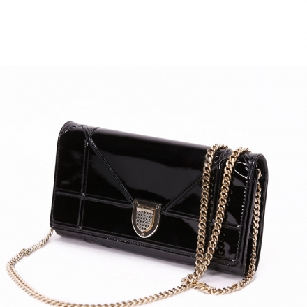Black-Dior-Diorama-Clutch-Side